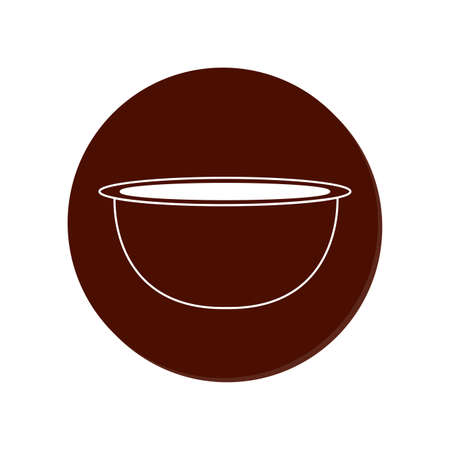 Bakery bowl outline object Ilustracja