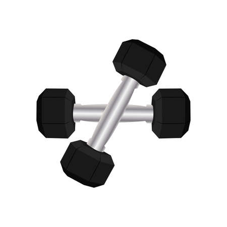 Abstract dumbell for sport gym