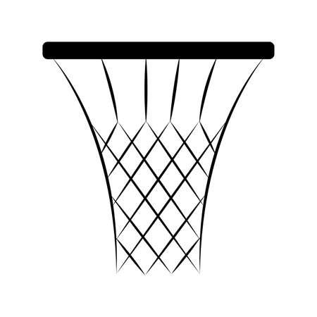 Rede abstrata do basquetebol na ilustração preto e branco. Foto de archivo - 92548487