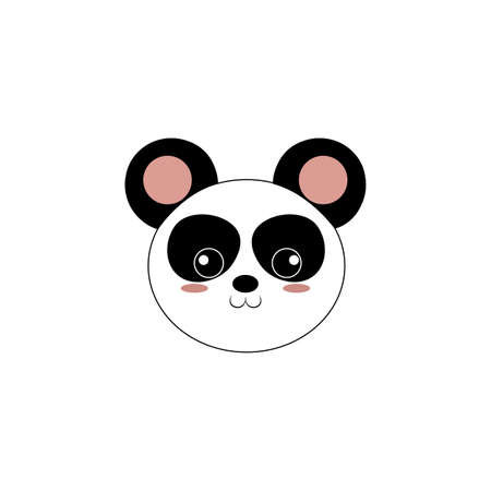 abstract cute animal face on a white background Illustration