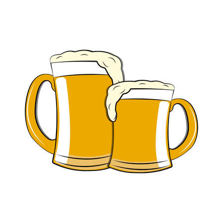 Delicious beer on a white background.