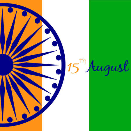 Abstract India independence day background with some special objects.