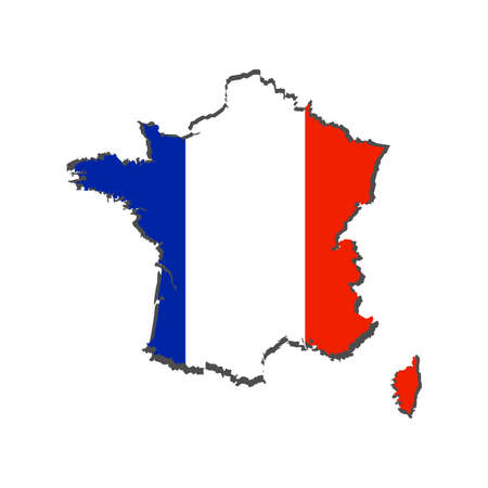 abstract france commemorative object on a white background
