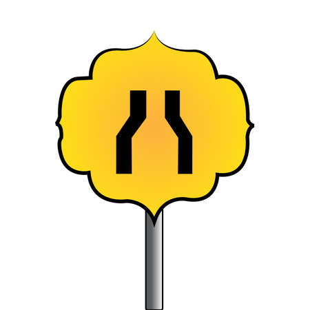 Abstract traffic signal on a white background Illustration
