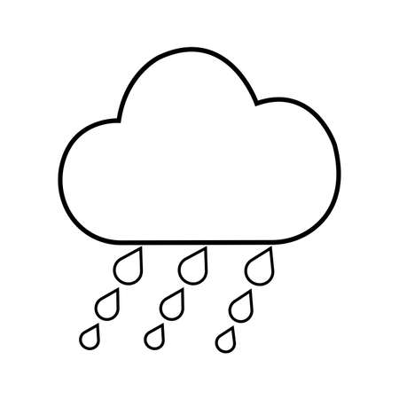abstract weather icon on a white background