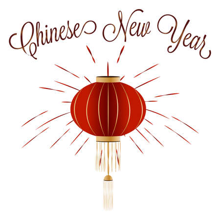 Chinese new year lantern illustration. Illustration