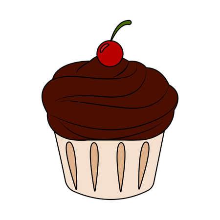 Abstract fast food cup cake  illustration. Ilustração