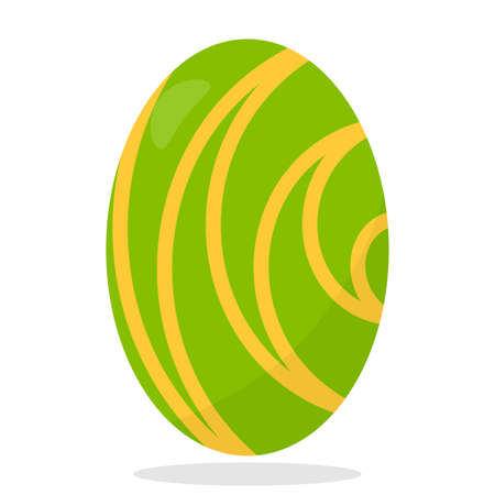 Abstract easter egg on a white background