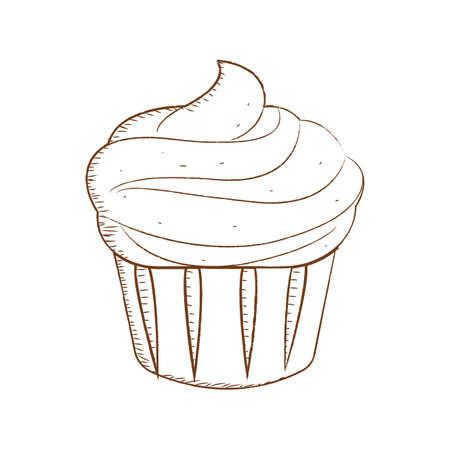 Abstract bakery food Illustration