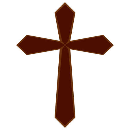 Christianity cross. Holy week object. Vettoriali