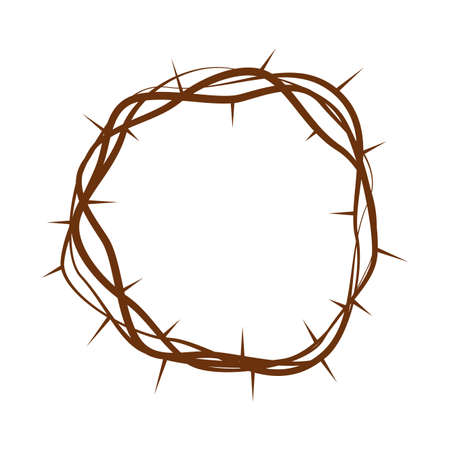 Holy week object - crown of thorns Vector illustration.