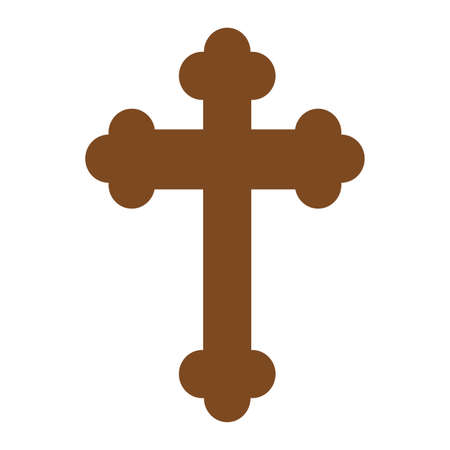 Holy week object - brown cross Vector illustration.