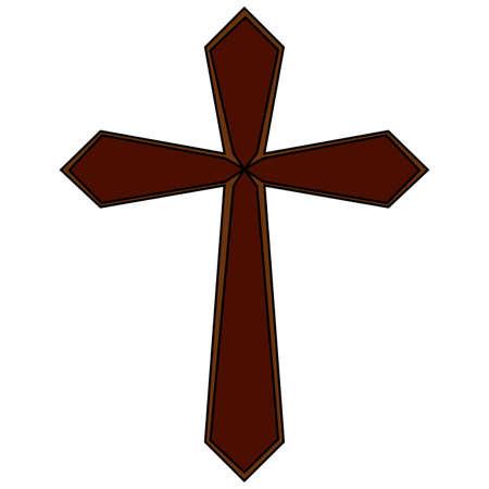 Cross vector illustration. Illustration