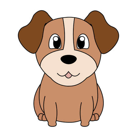 Abstract cute dog illustration.