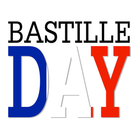 Abstract Bastille day background with some special objects.