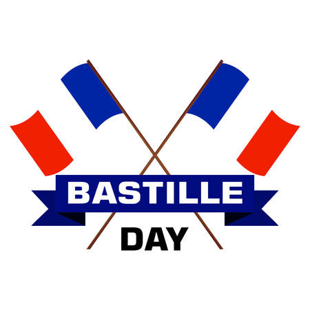 abstract bastille day background with some special objects Illustration