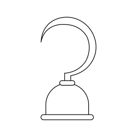abstract pirate object on a white background Illustration