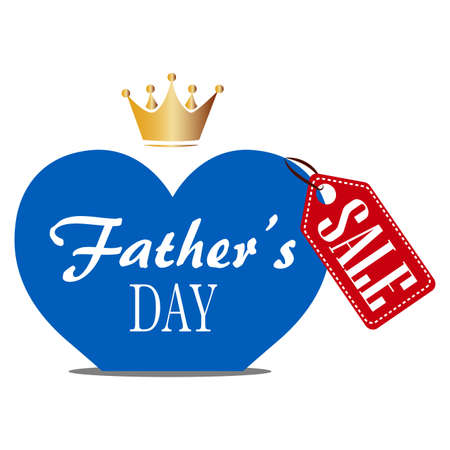 abstract fathers day sale background with some special objects