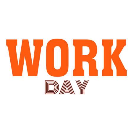 Work day design template