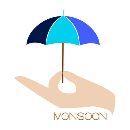 Abstract monsoon background