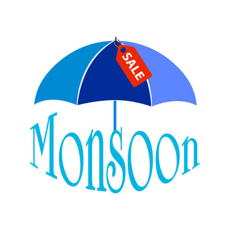 Abstract monsoon sale Illustration