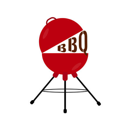 Abstract BBQ label Illustration