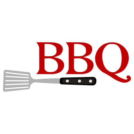 Abstract BBQ label Ilustrace