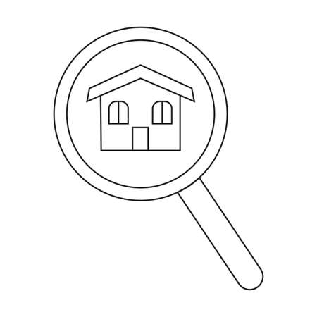 abstract buying home symbol on a white background Vector illustration. Stock Vector - 99878304