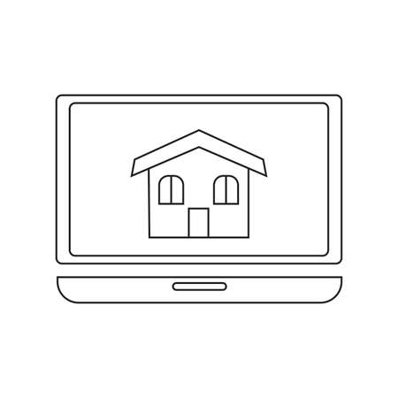 abstract buying home symbol on a white background Vector illustration.