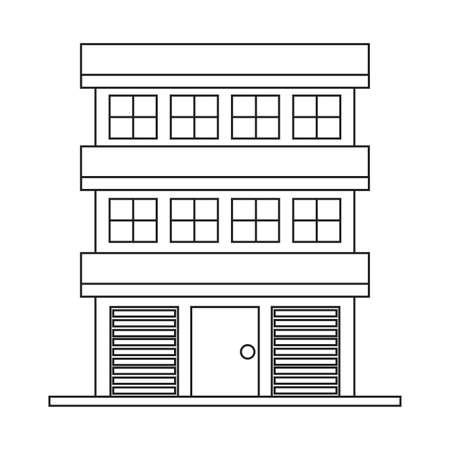 Buying home symbol building Vector illustration. Illustration