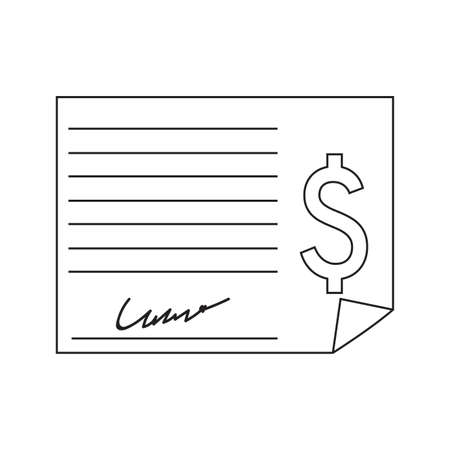 Buying home symbol contract with dollar sign Vector illustration.