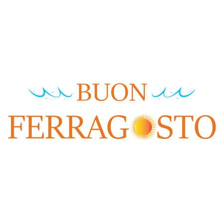 Buon Ferragosto background Ilustração Vetorial