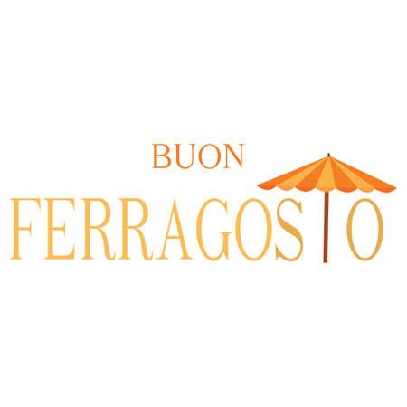 Buon Ferragosto background Illustration