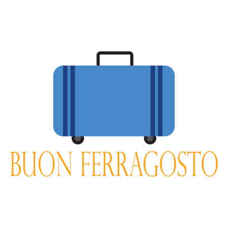 Buon Ferragosto background Stock Illustratie