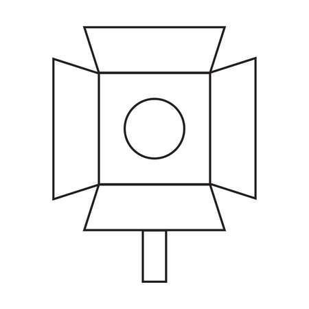 abstracct cinema symbol Illustration