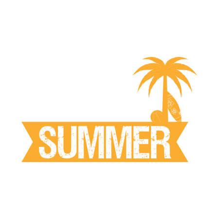 Abstract summer label Vektoros illusztráció