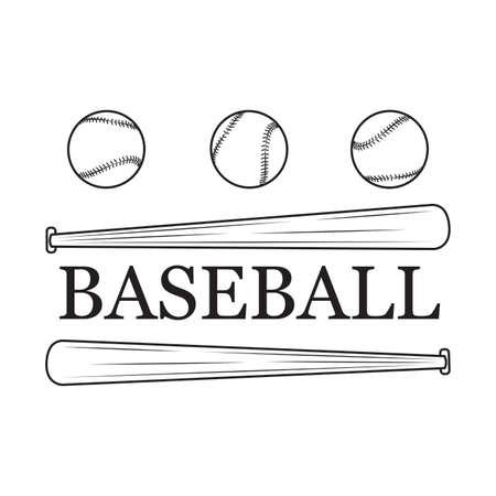 Abstract baseball label Illustration