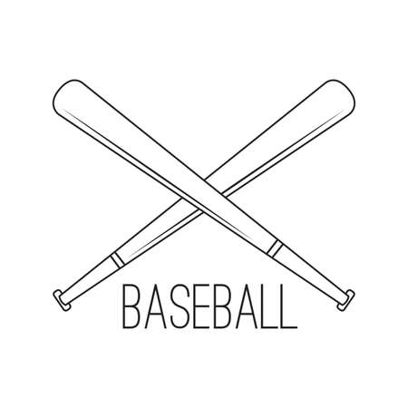 abstract basebal label on a white background Illustration