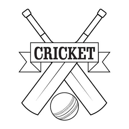 Abstract Cricket Label