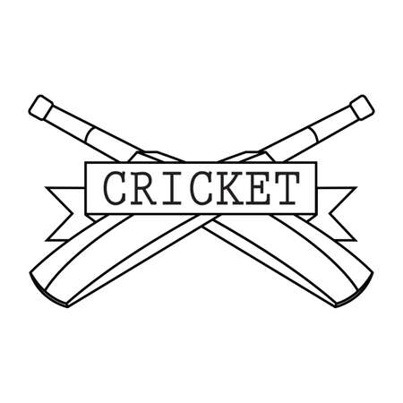 abstract cricket label on a white background