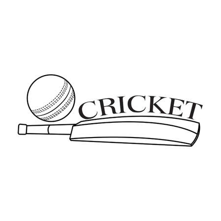 abstract cricket label on a white background 矢量图像