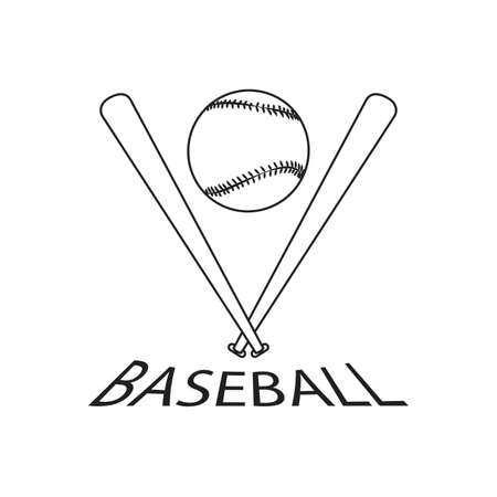 Abstract baseball label Stock Photo