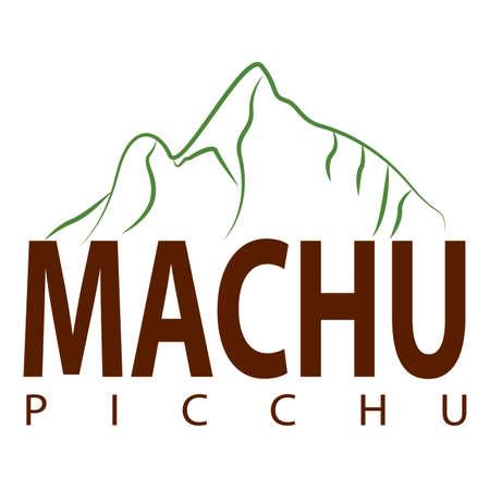 Machu picchu background Illusztráció