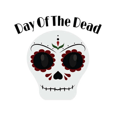 abstract day of the dead background with some special objects