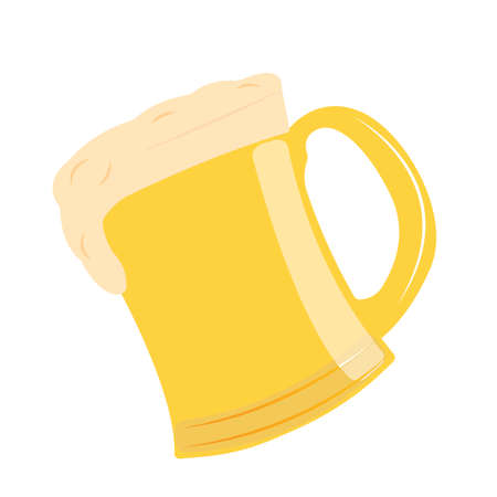 abstract delicious beer on a white background
