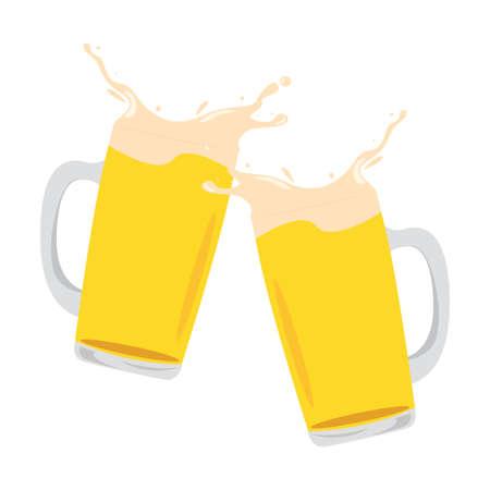 abstraktes köstliches Bier auf weißem Hintergrund