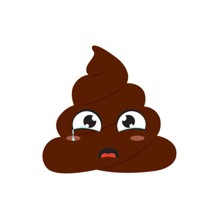 abstract funny poop face, vector illustration design Vektorové ilustrace