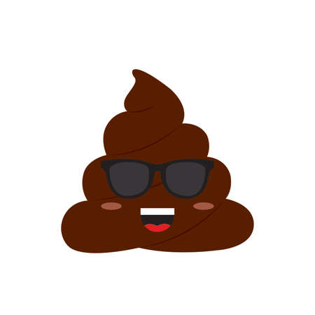 abstract funny poop face, vector illustration design