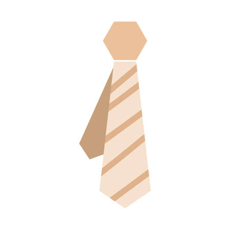 colored abstract tie icon. Vector illustration design