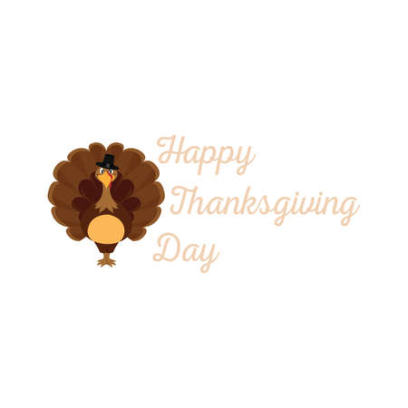 Happy thanksgiving day background with some special objects, vector illustration design  イラスト・ベクター素材